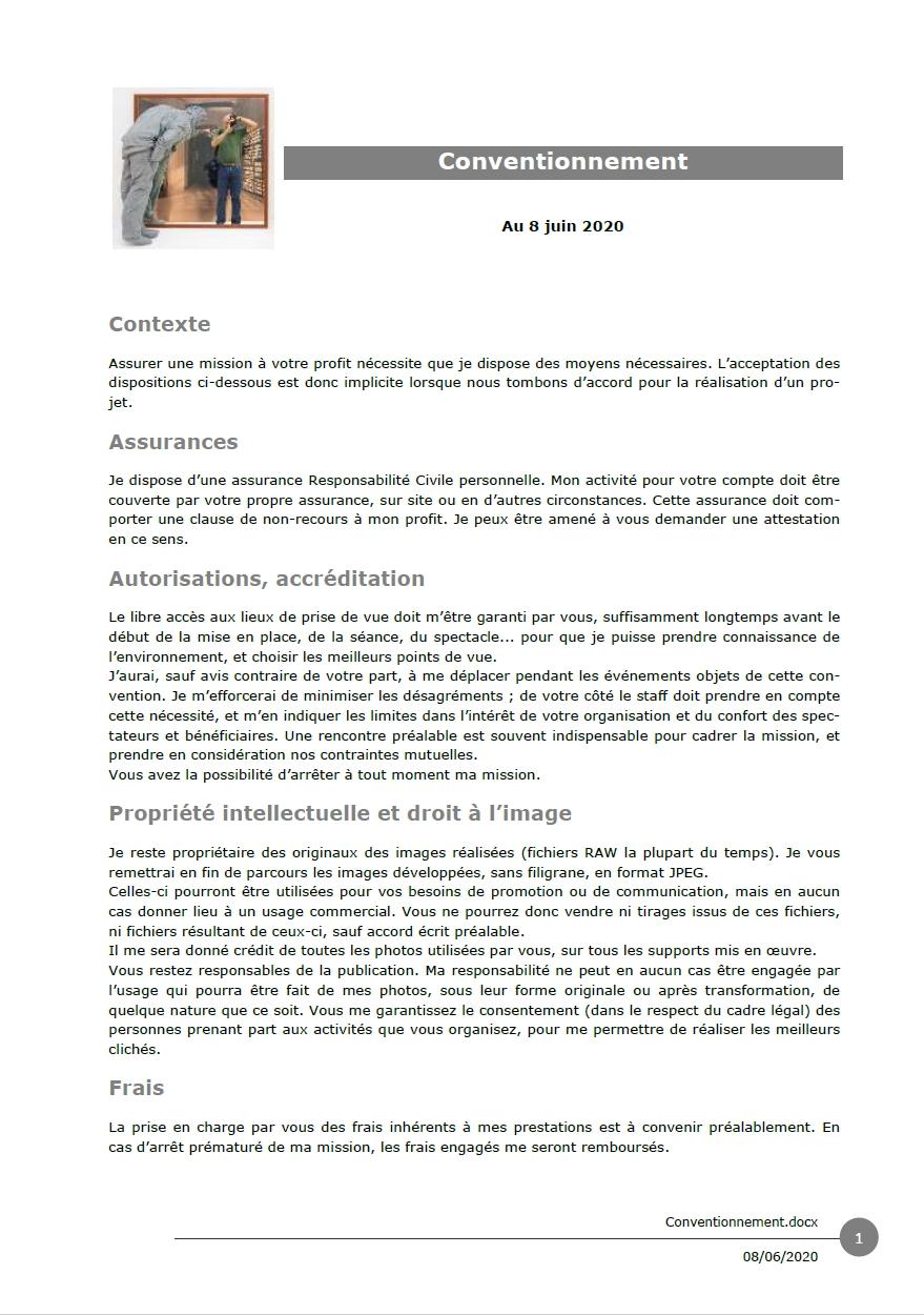 """Téléchargement du document """"Conventionnement"""""""